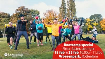 Bootcamp Specials in het Vroesenpark, 18 & 25 februari!