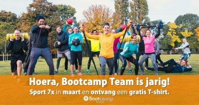 Bootcamp Team is jarig!