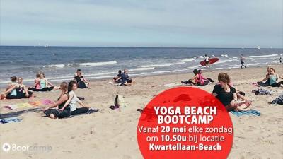 De yoga bootcamp is terug bij Kwartellaan-Beach!