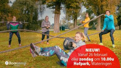 Ook op zondag training in het Hofpark!