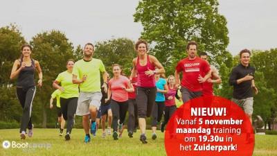 Nieuwe training in het Zuiderpark op maandag.