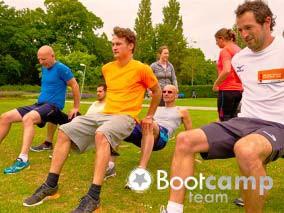 Trainen in het Van Tuyllpark in Zoetermeer