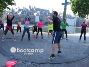 Nieuwe training in de Paleistuin in Den Haag