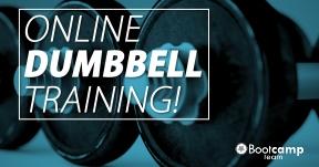 Online Dumbbell workout op maandag 1 februari!